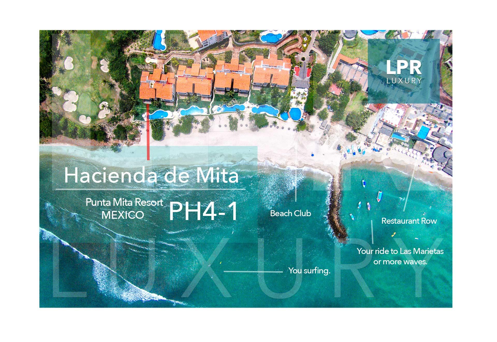 Hacienda de Mita Penthouse 4-1 - Punta Mita Resort condo for rent - Vacation Rental condos