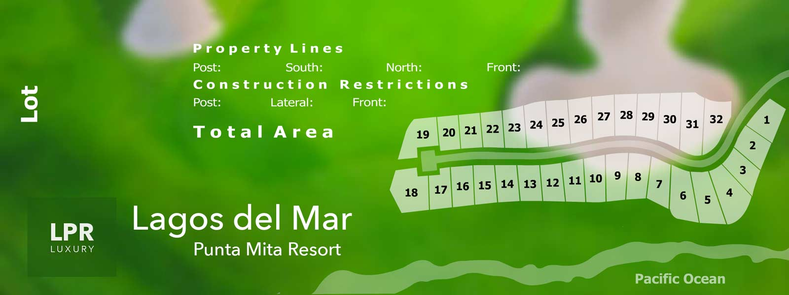 Map of Lagos del Mar - Luxury Punta Mita Resort Real Estate on the Jack Nicklaus golf course