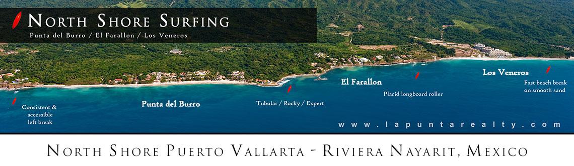 Surfing in Puerto Vallarta - Punta del Burro - Los Veneros - Riviera Nayarit, Mexico