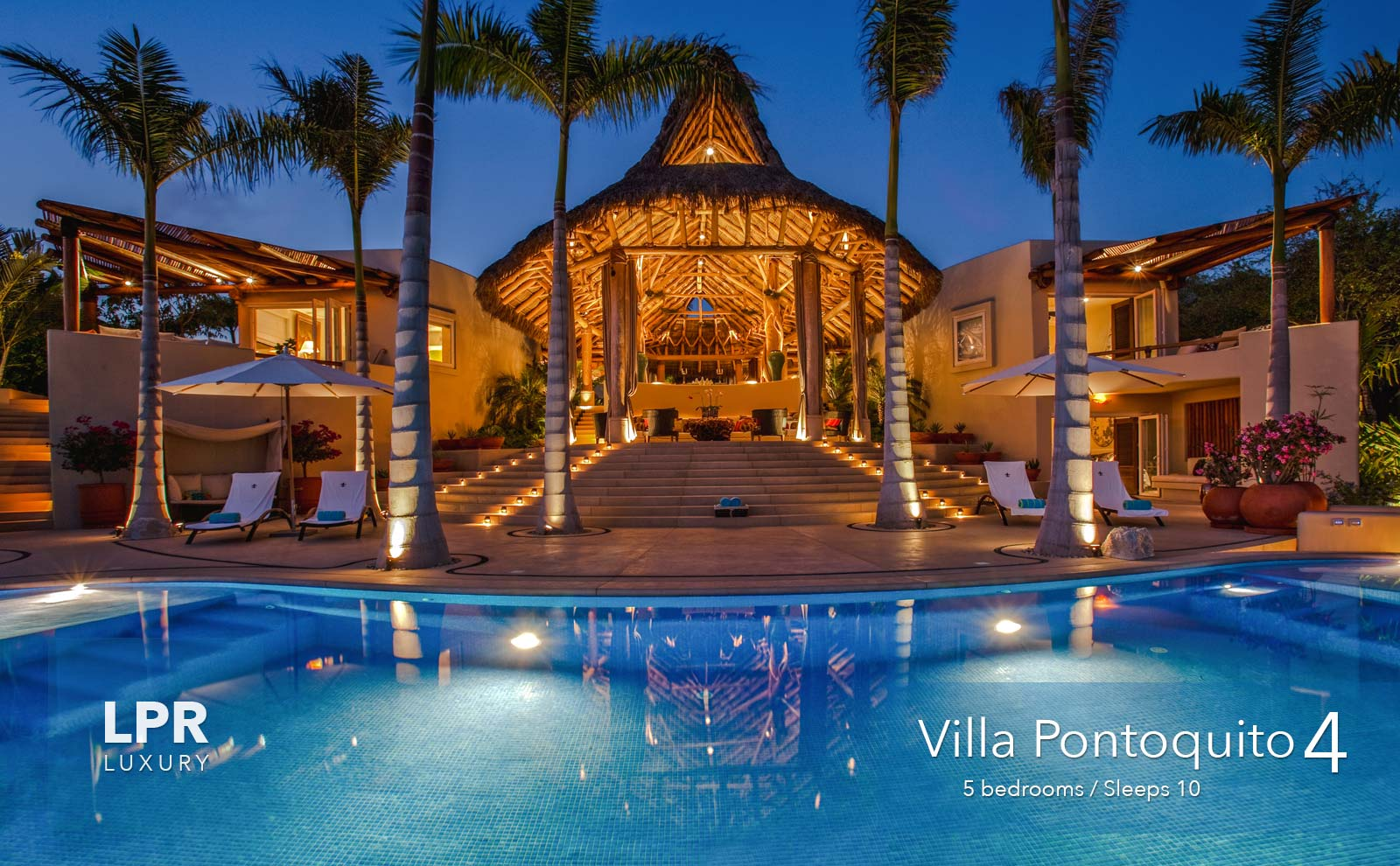 Villa Pontoquito 4 - Ultra luxury beachfront vacation rental villa real estate for sale - Punta de Mita, Riviera Nayarit, Mexico