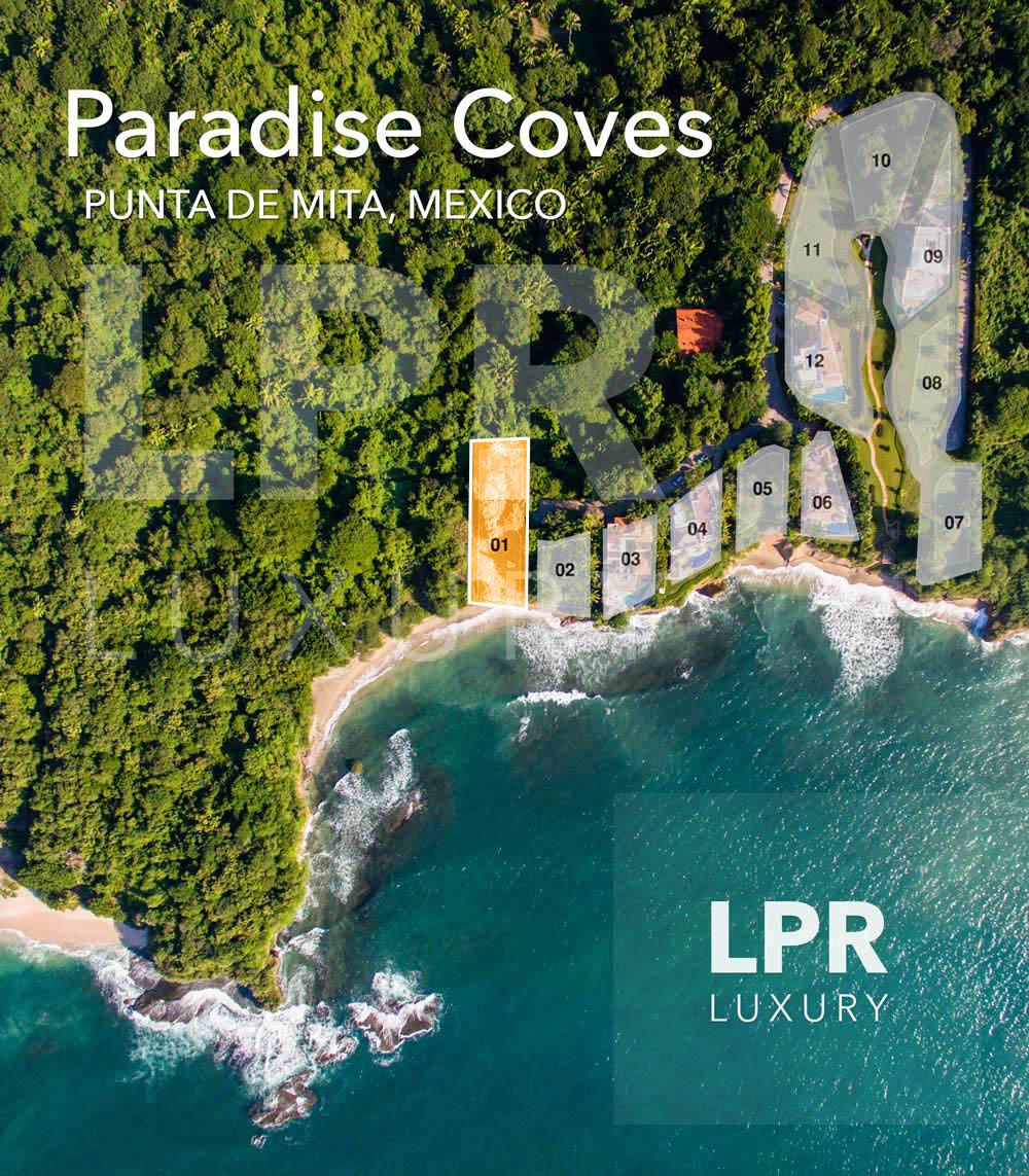 Paradise Coves Lot 1 - Luxury real estate for sale - North shore Puerto Vallarta - Punta de Mita, Riviera Nayarit