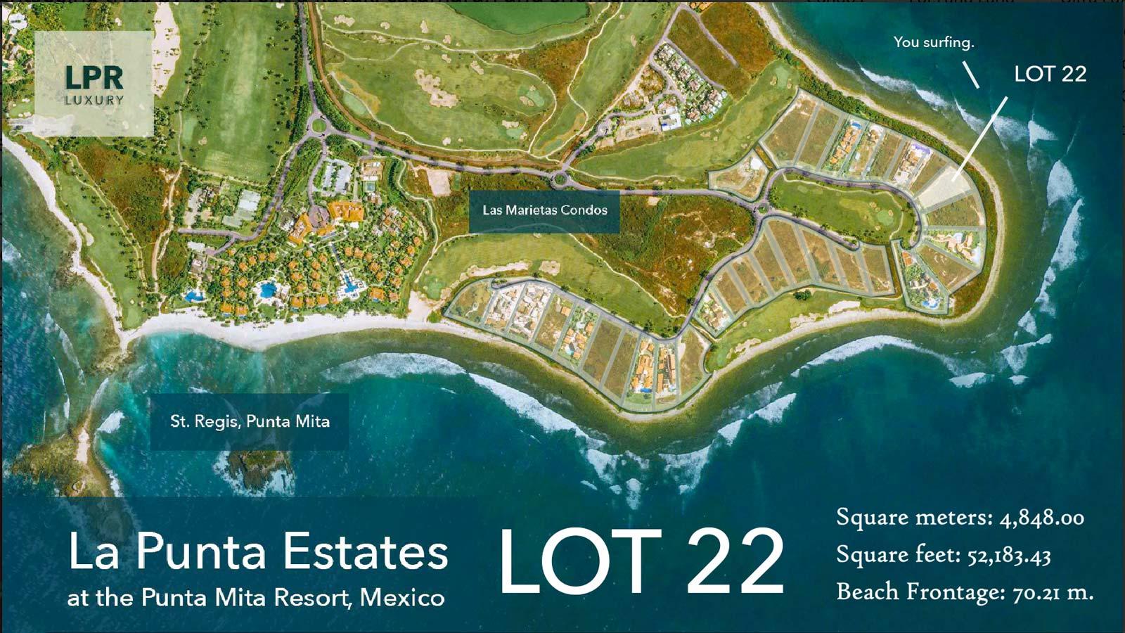 La Punta Estates - Lot 22 at the exclusive Punta Mita Resort, Riviera Nayarit, Mexico