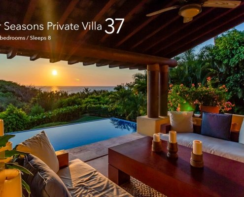 Four Seasons Private Villa 37 - Luxury oceanfront vacation rental villa at the Four Seasons Resort, Punta Mita, Riviera Nayarit, Mexico