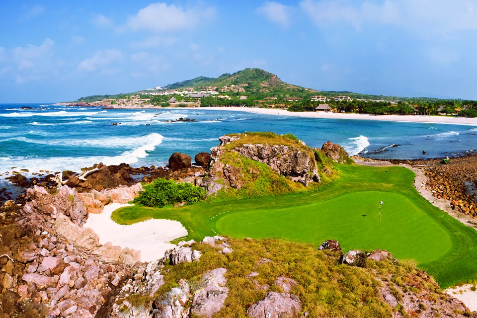 "Punta Mita Golf - Hole 3b - the famous ""Tail of the Whale"" at the St. Regis Resort - Mexico"