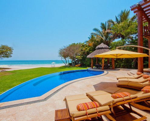 Villa Ranchos 14 - Luxury Beachfront Vacation Rental Villa for Sale - Punta Mita Mexico