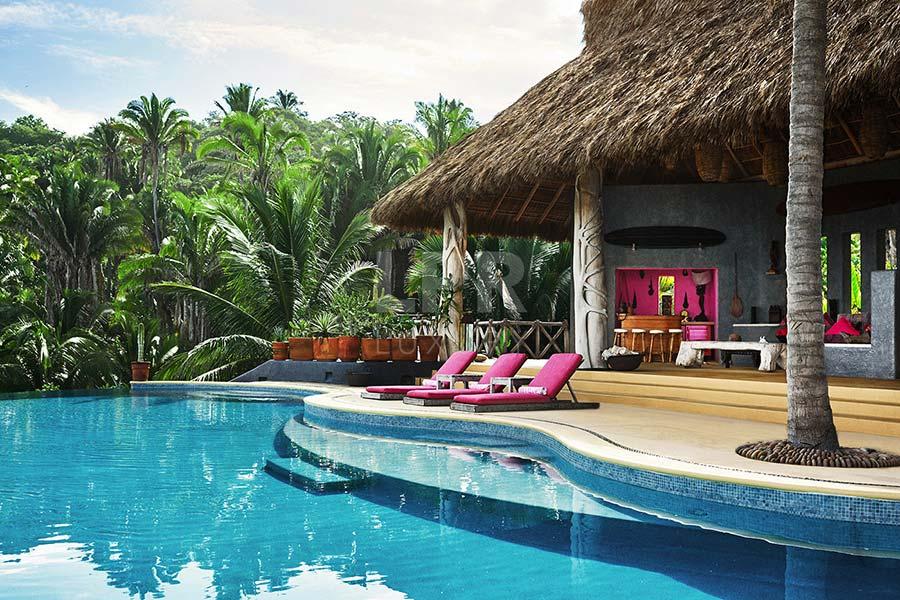 Villa Sayulita 1 - Ultra private, ultra cool luxury beachfront vacation rental villa on a secret beach between Punta Mita and Sayulita, Riviera Nayarit, Mexico