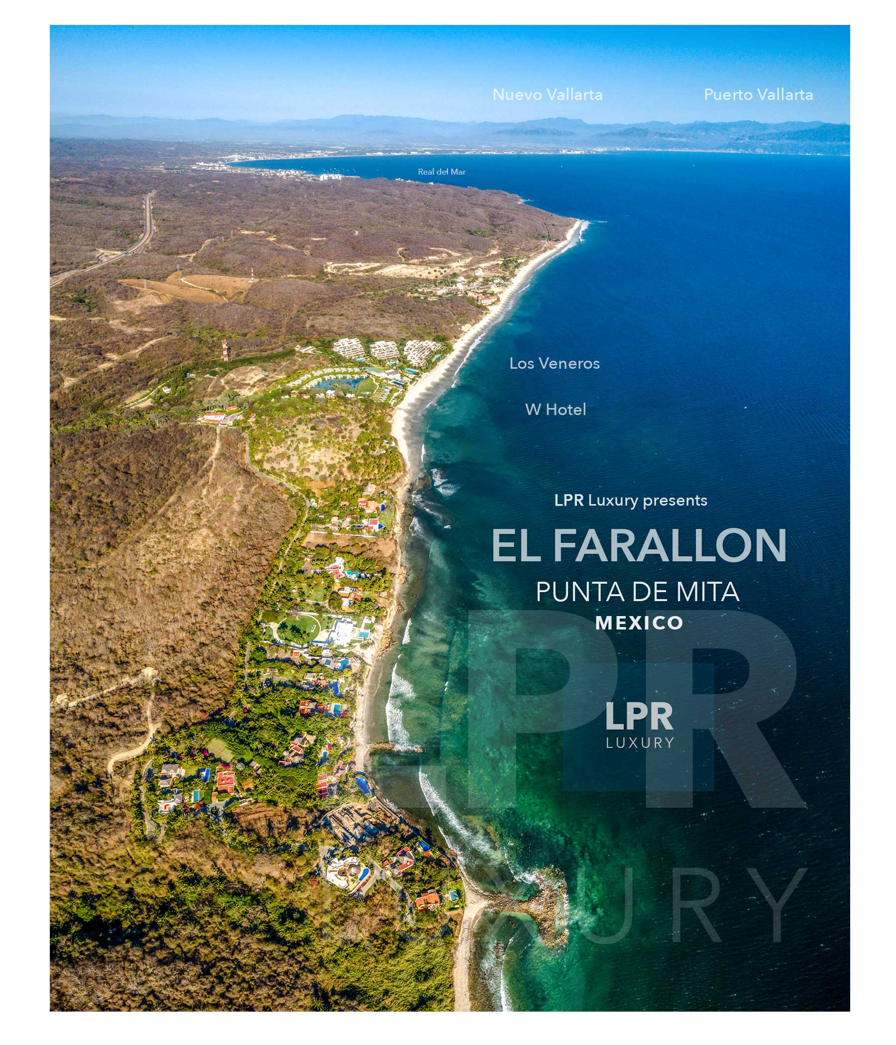 El Farallon - Luxury gated community along the Punta de Mita peninsula, North shore Puerto Vallarta, Riviera Nayarit, Mexico