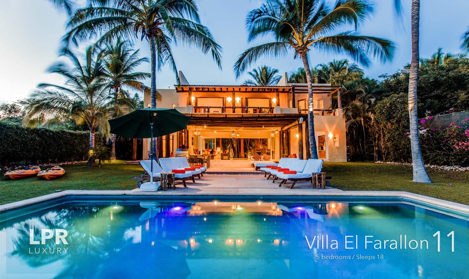 Villa El Farallon 11 - Luxury beachfront vacation rental villa at El Farallon, Punta de Mita, Riviera Nayarit, Mexico