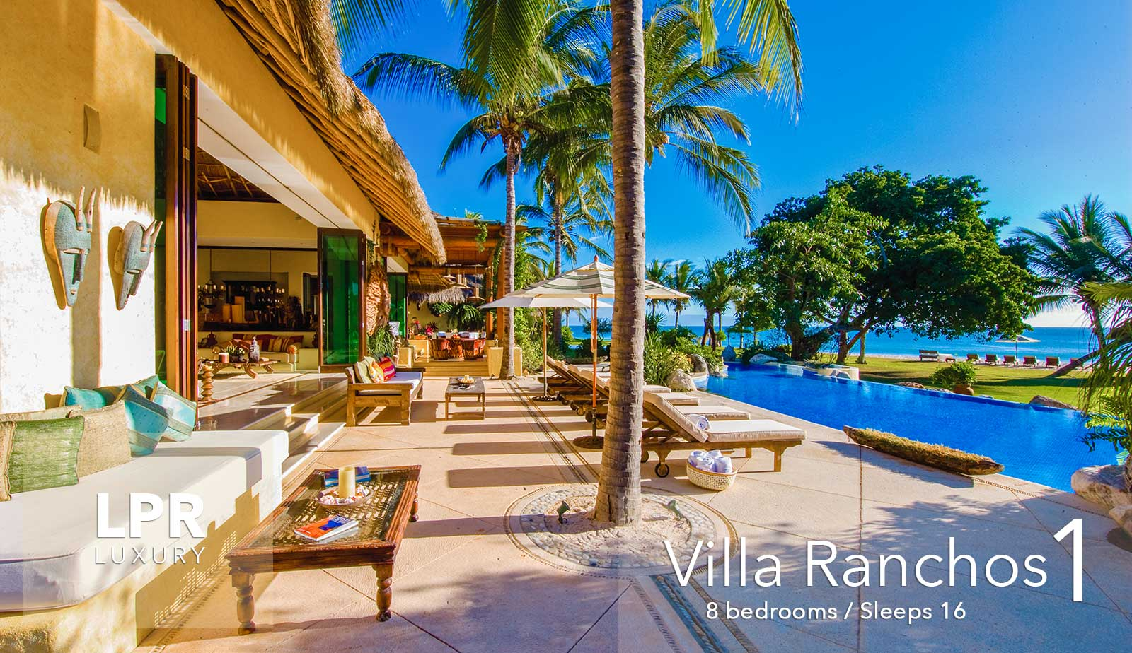 Villa Ranchos 1 - Ultra luxury vacation rental villa at the exclusive Punta Mita Resort