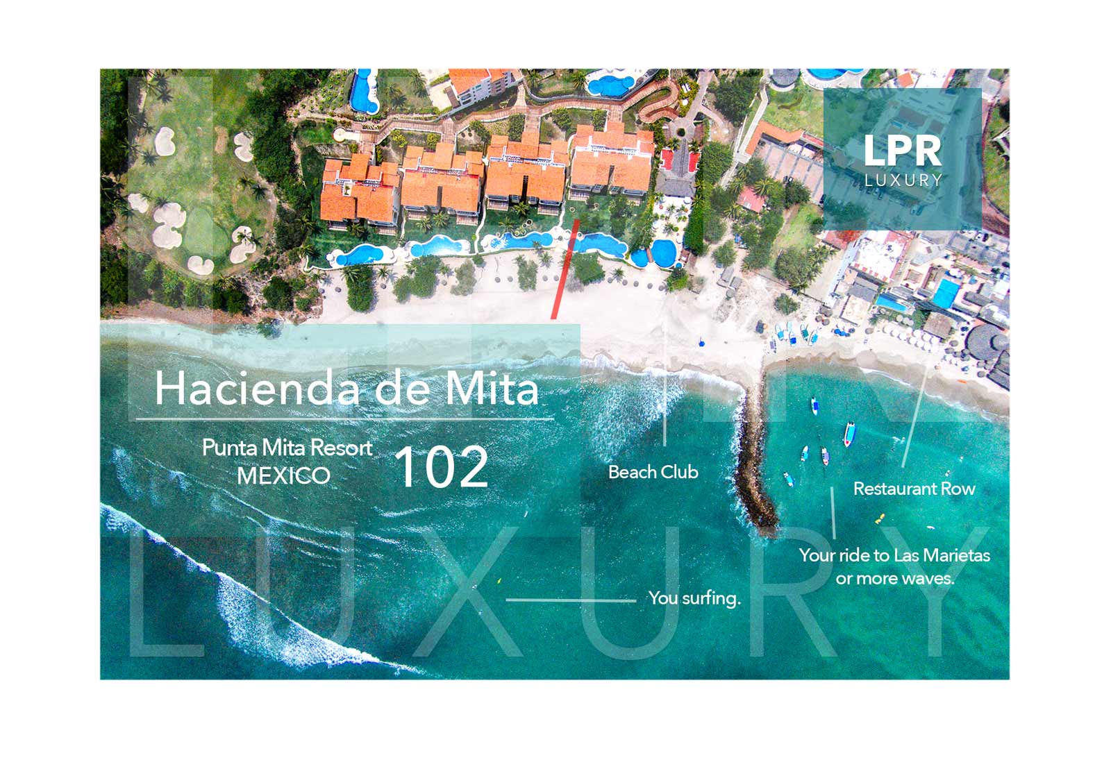 Hacienda de Mita 102 - Luxury Punta Mita Resort condo fro sale and rent - Riviera Nayarit, Mexico