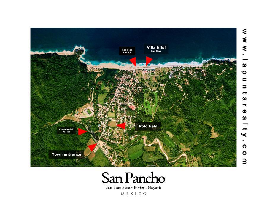 Map of San Pancho San Francisco Real Estate Mexico LPR