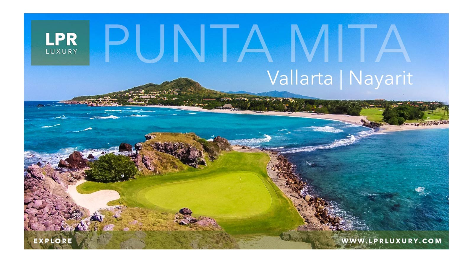 "The Punta Mita Resort - Jack Nicklaus golf course featuring the famous hole 3b called ""Tail of the Whale"" is a dramatic island hole tha must be played!!"