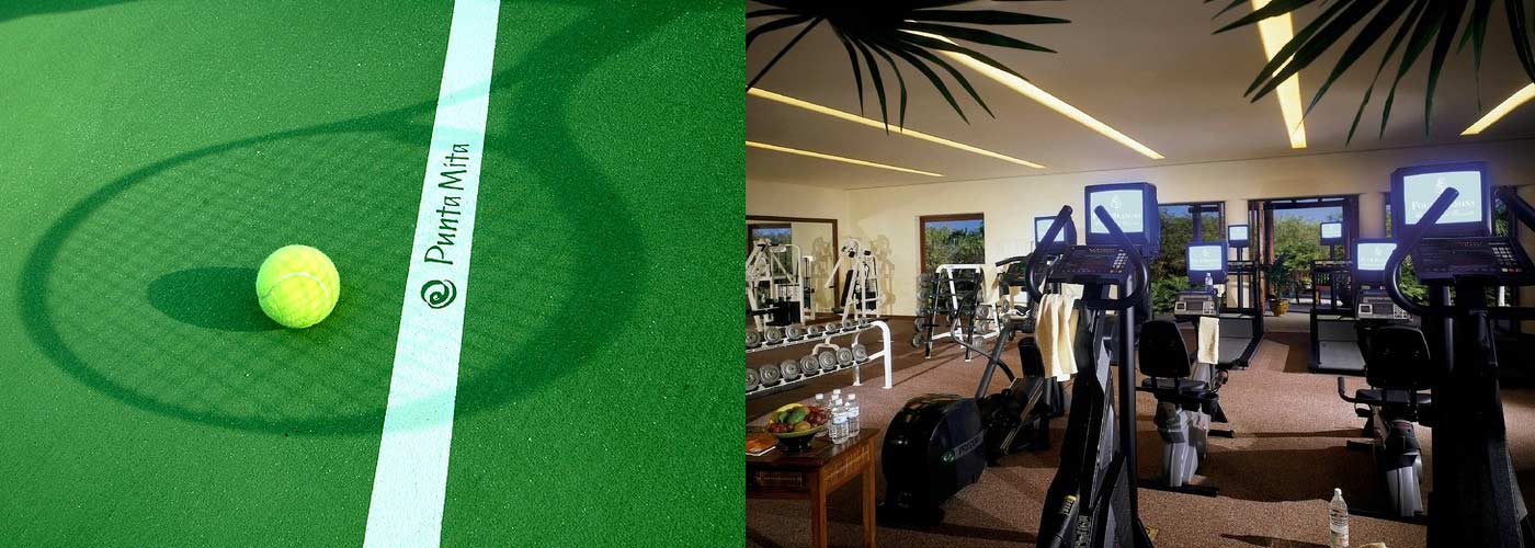 The Tennis Club at Punta Mita offers a variety of surfaces with world class mentors ready to keep you active.