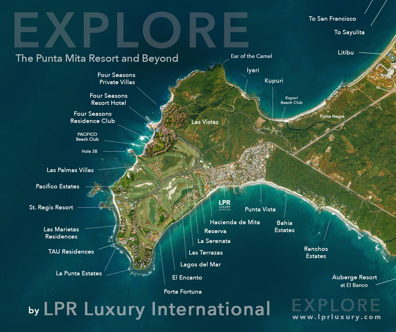 Map of Punta Mita Mexico