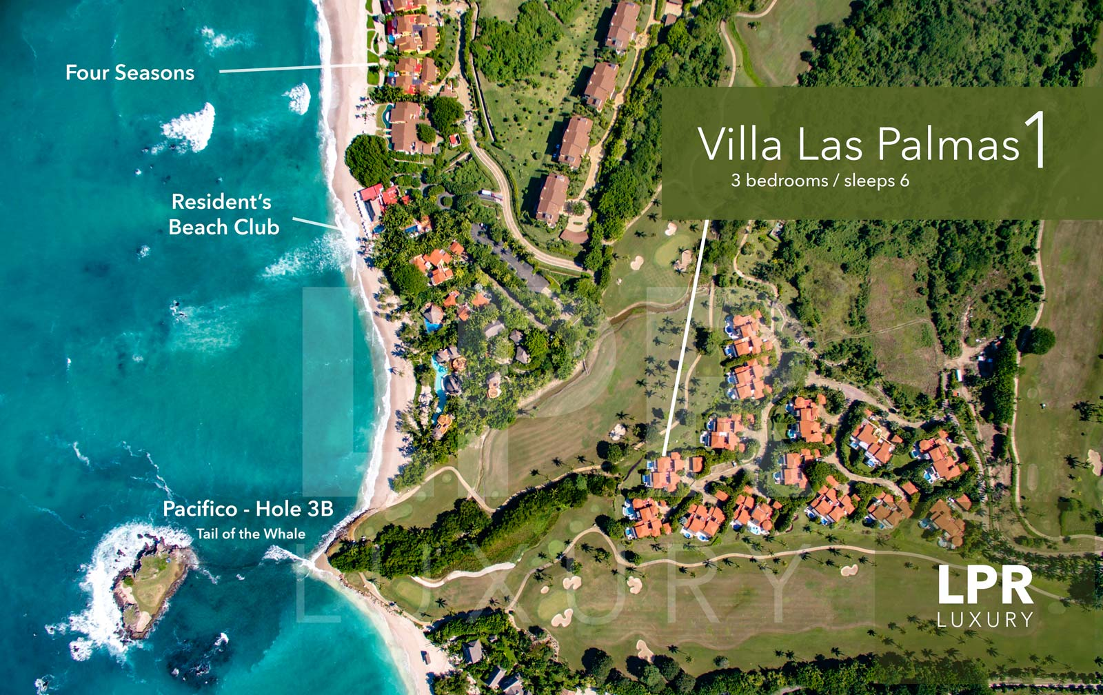Villa Las Palmas 1 - Ocean view golf course villa at the Punta Mita Resort, Riviera Nayarit, Mexico - Vacation rentals and real estate