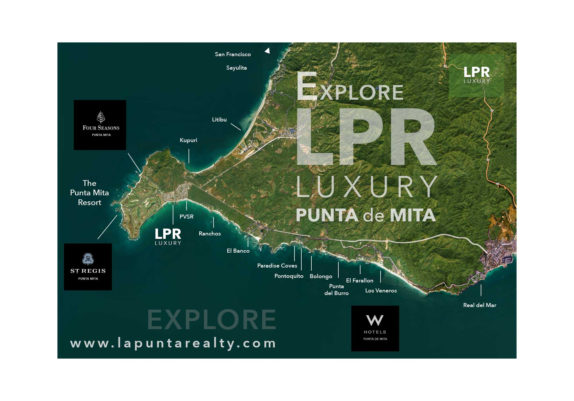 Explore Punta de Mita - Map of Punta de Mita Luxury Real Estate