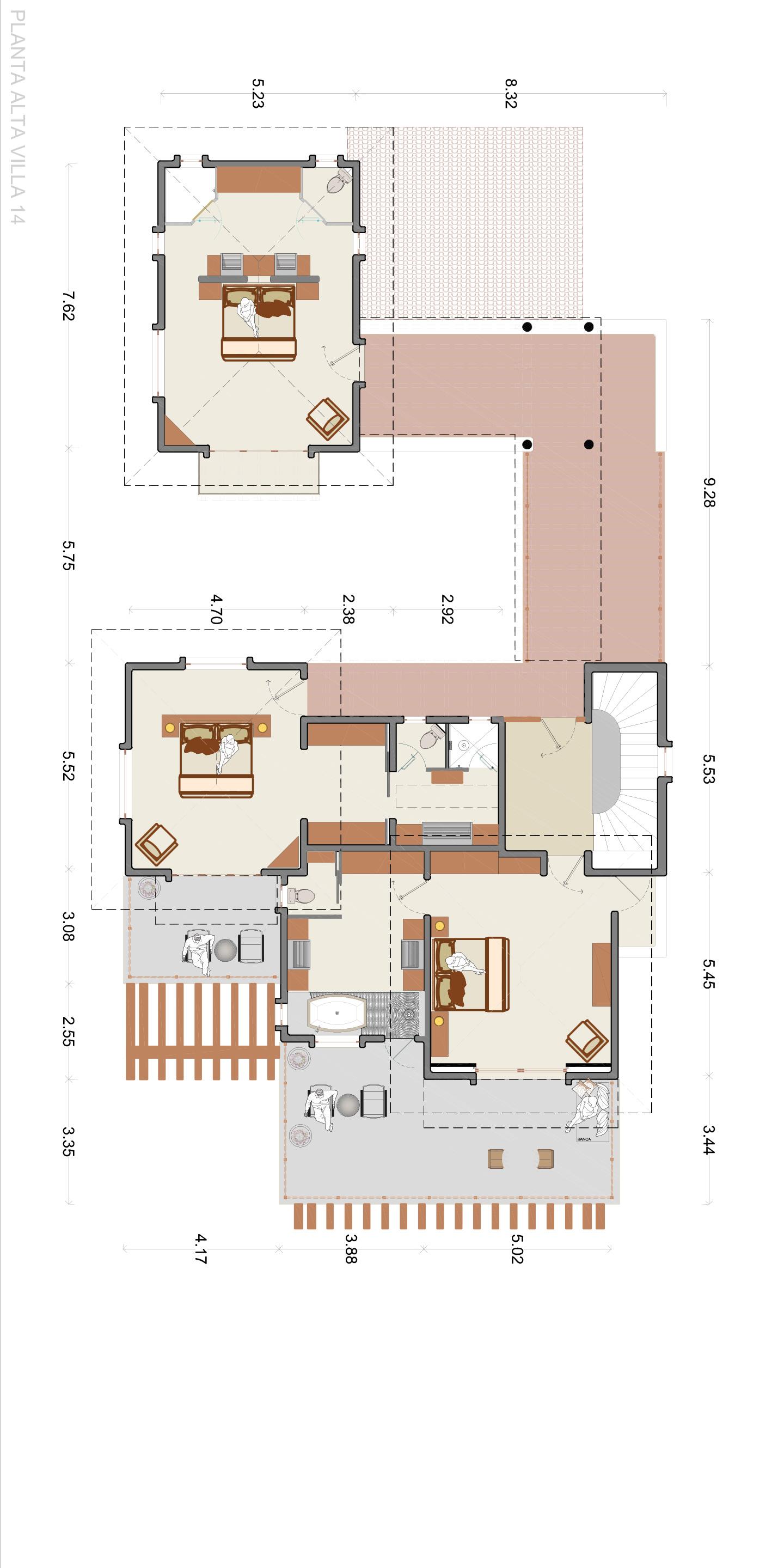 El Encanto - Villa 14 floor plan - Punta Mita Resort, Mexico