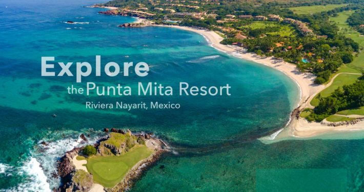 """The famous island hole called """"Tail of the Whale"""" at the Four Seasons / St. Regis Resort - Punta Mita, Mexico. Designed by Jack Nickalus himself, hole 3B is a must see."""