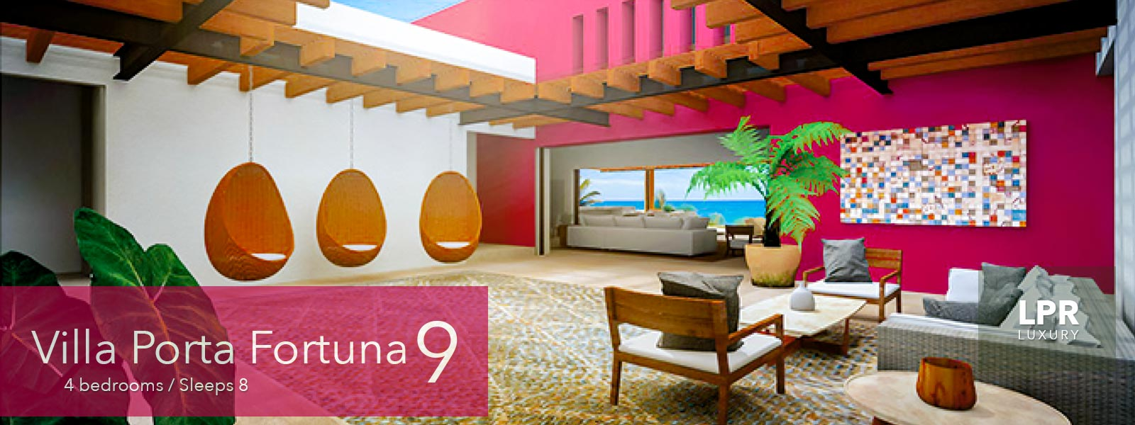 Villa Porta Fortuna 9 - Luxury oceanfront real estate for sale at the Punta Mita Resort, Riviera Nayarit, Mexico