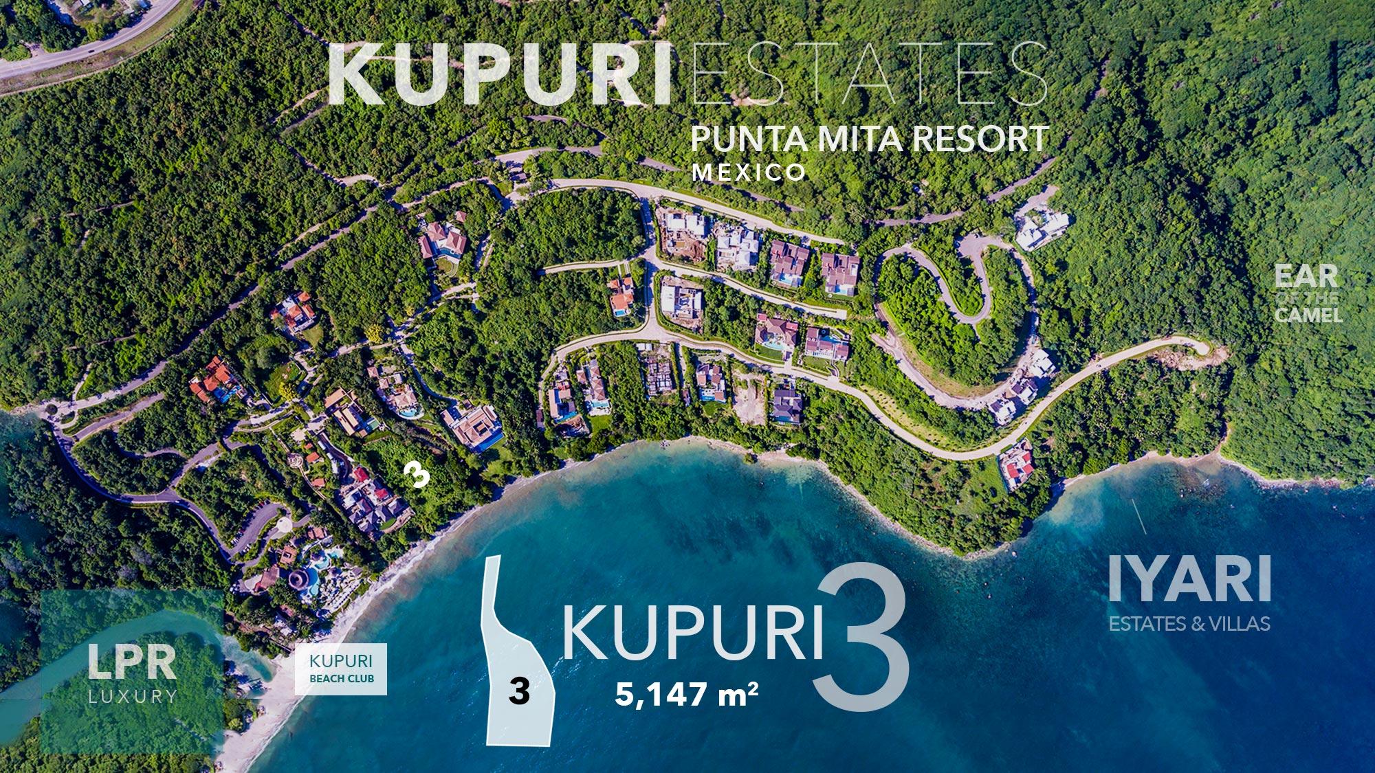 Kupuri Estates - Lot 3 - Punta Mita Resort - Luxury real estate for sale - Homesite building lots in Puerto Vallarta, Mexico