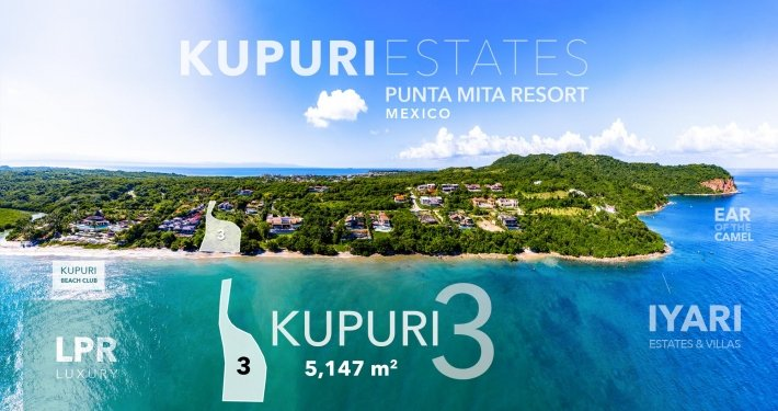 Kupuri Estates - Lot 3 - Punta Mita Resort - Luxury real estate for sale - Homesite building lots in Puerto Vallarta, Mexico