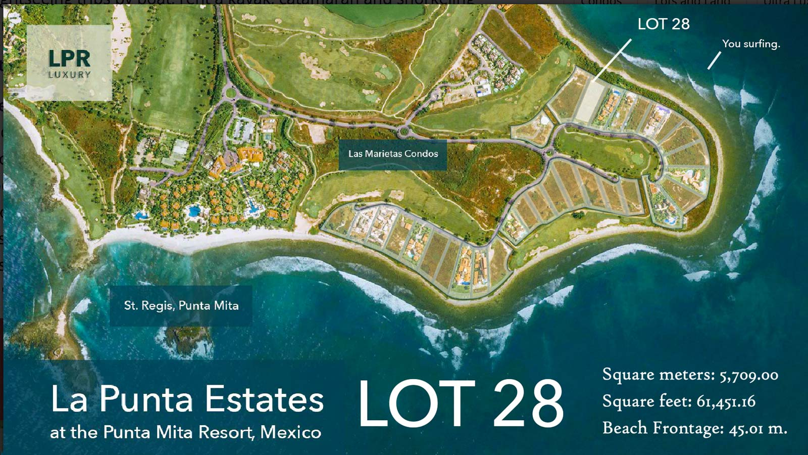 La Punta Estates - Lot 28 at the exclusive Punta Mita Resort, Riviera Nayarit, Mexico