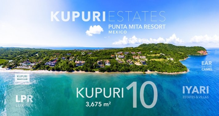 Kupuri lot 10 - Luxury homesite building lot for sale at the Punta Mita Resort, Riviera Nayarit, Mexico