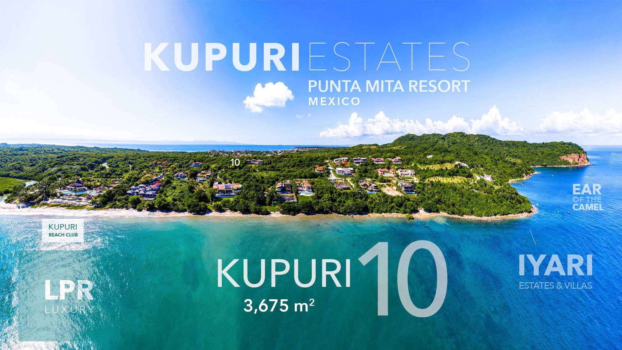 Kupuri lot 10 - Luxury homesite building lot for sale at the Punta Mita Resort, Riviera Nayarit, Mexico