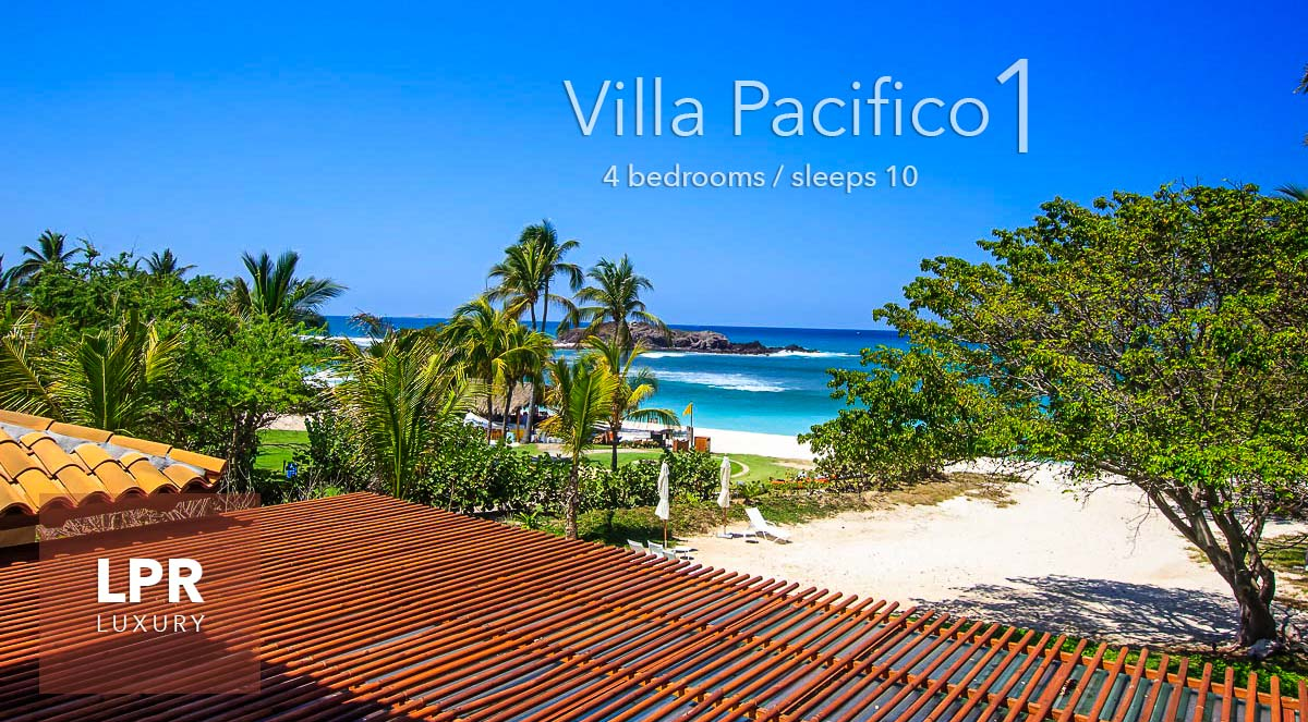 Villa St. Regis 1 - Luxury beachfront vacation rental villa next to the St. Regis hotel at the Punta Mita Resort, Riviera Nayarit, Mexico