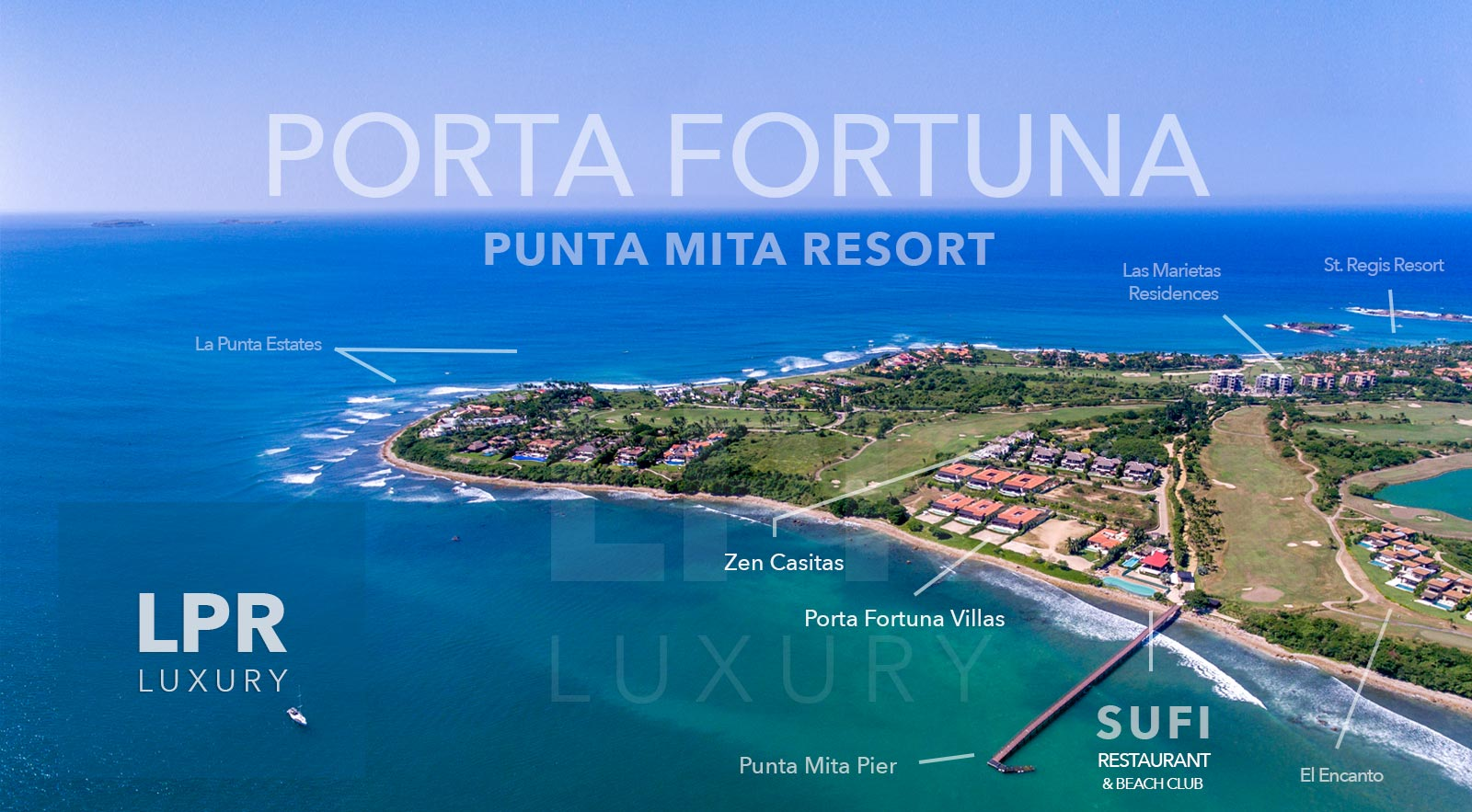 Porta Fortuna - Oceanfront and ocean view Villas - Luxury Real Estate and Vacation Rentals at the Punta Mita Resort, Riviera Nayarit, Mexico