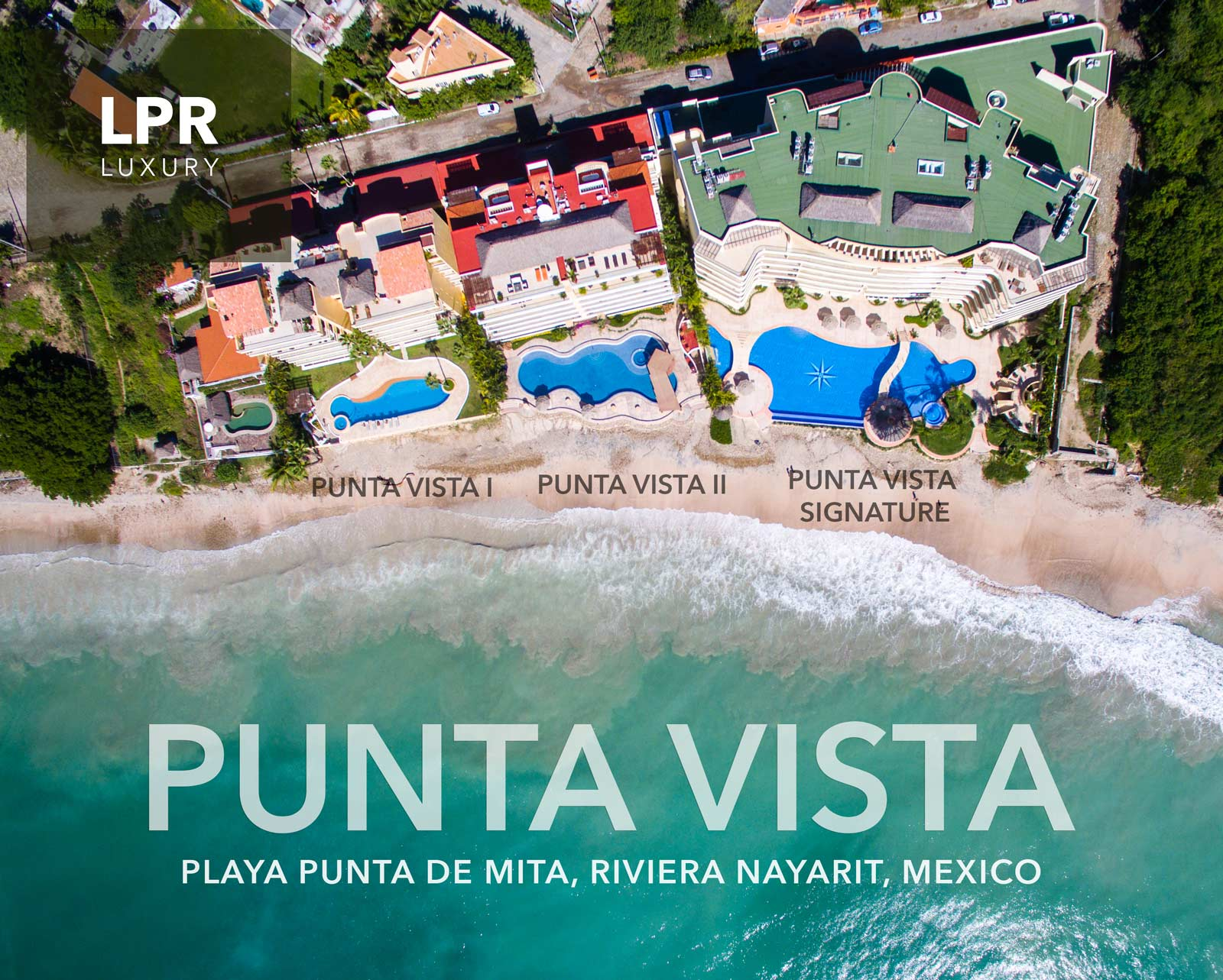 Punta Vista condos on Punta de Mita beach next to the Punta Mita Resort, Riviera Nayarit, Mexico
