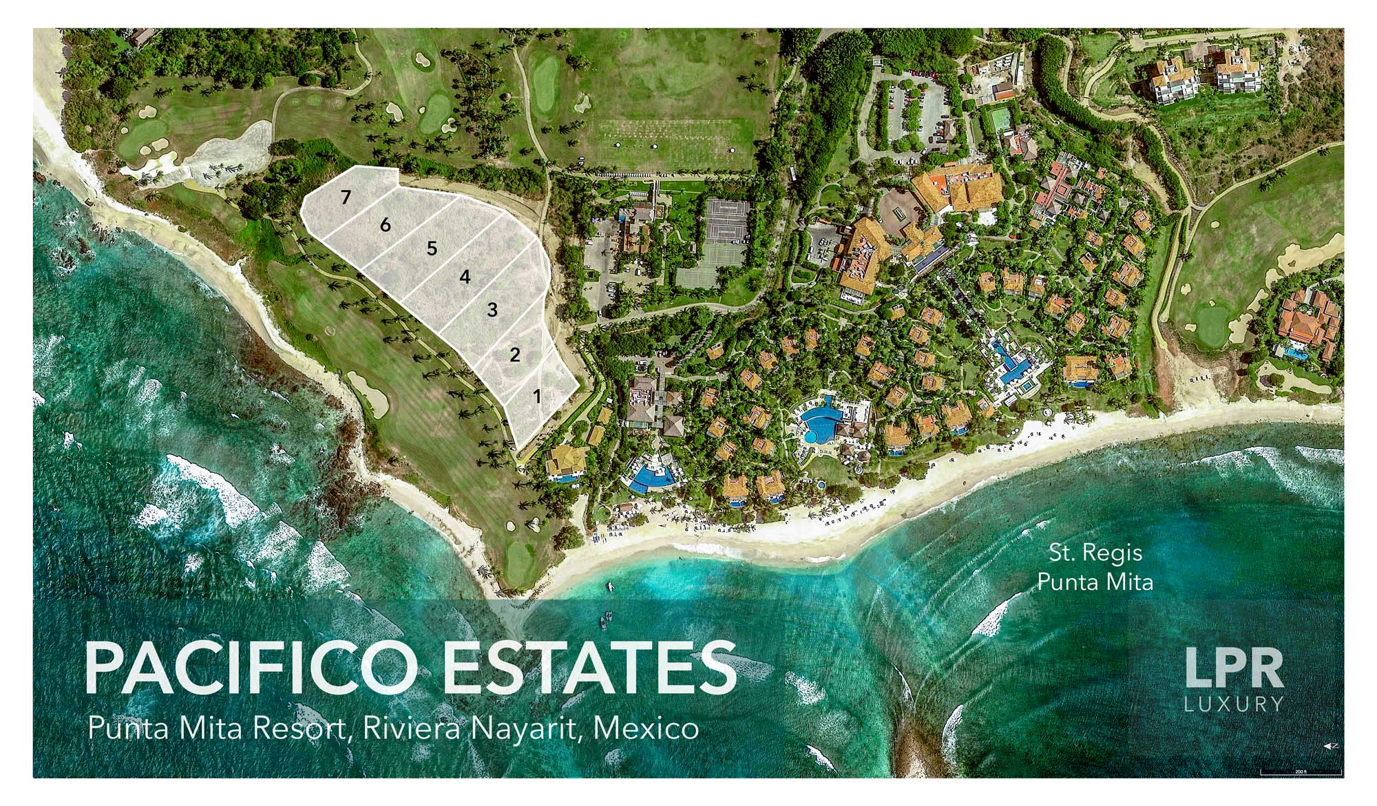 Pacifico Estates - Homesite building lots for sale next to the St. Regis at the Punta Mita Resort, Riviera Nayarit, Mexio