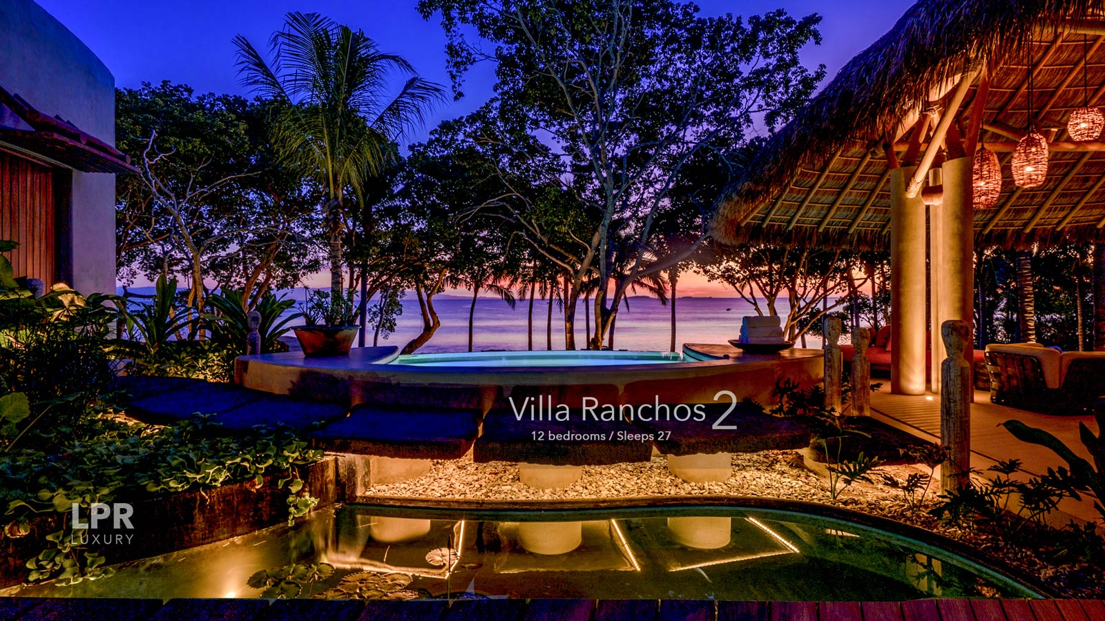 Villa Ranchos 2 - Ultra luxury 12 bedroom estate on sandy and exclusive Ranchos beach at the Punta Mita Resort, Riviera Nayarit, Mexico
