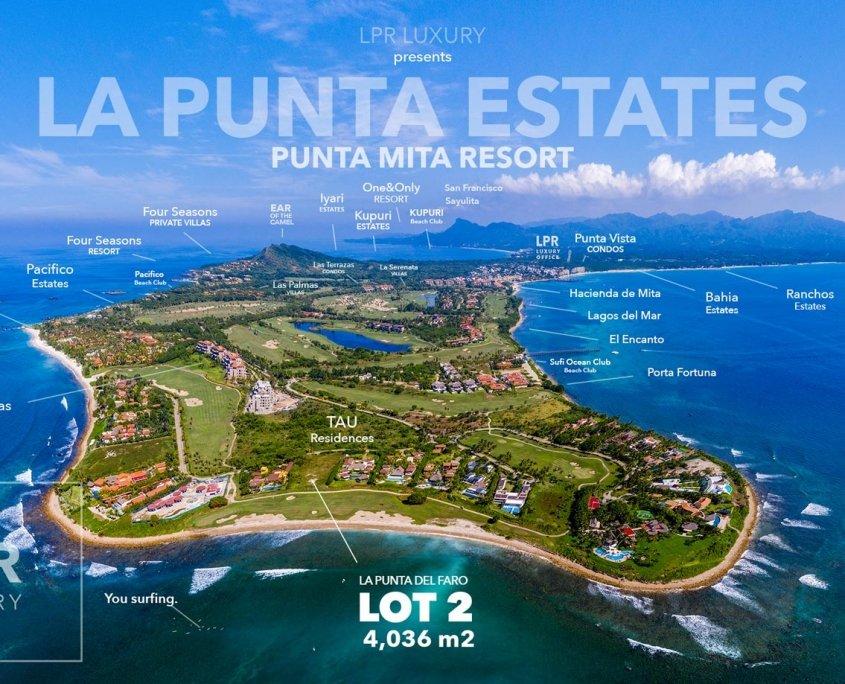 La Punta del Faro 2 - Luxury resort oceanfront estate building lot - Four Seasons / St. Regis - luxury real estate - Riviera Nayarit, Mexico
