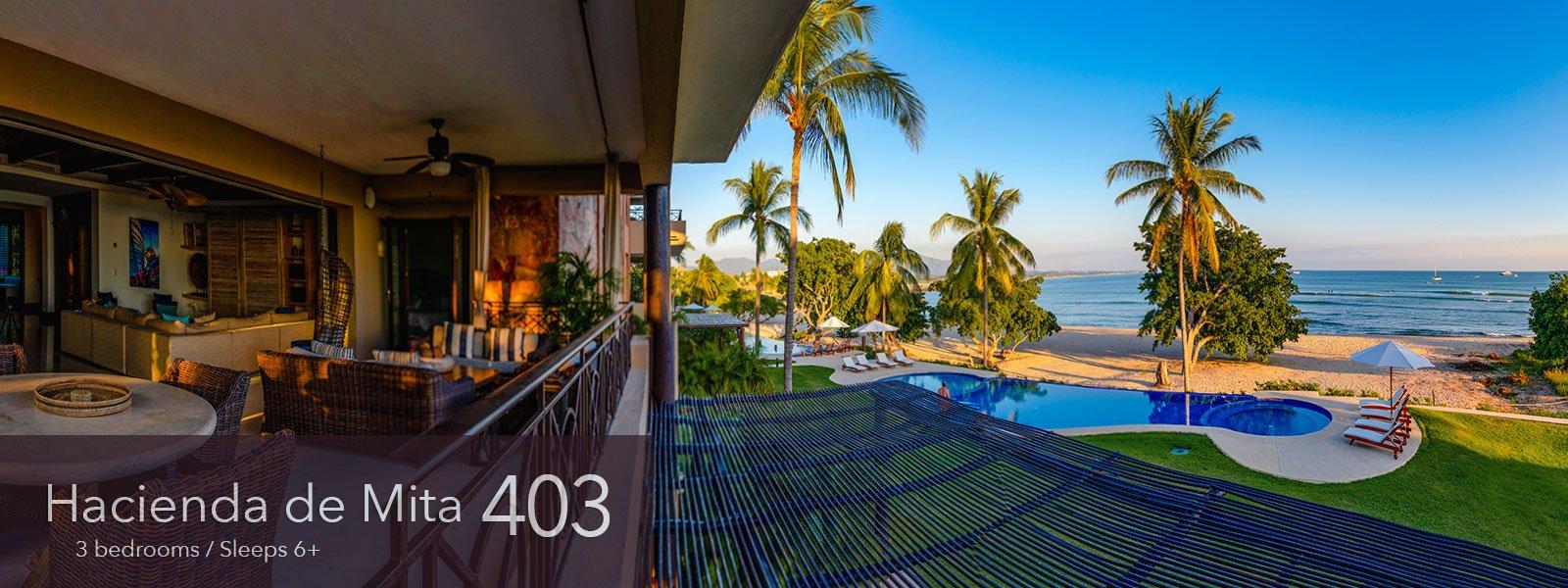 Hacienda de Mita 403 - Punta Mita Resort vacation rental condos on the beach for sale.
