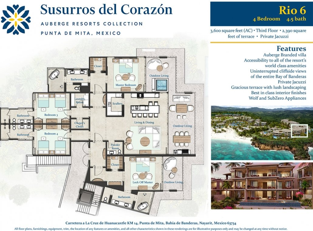 Auberge Resorts at El Banco, Punta de Mita Susurros del Corazón - Luxury beachfront resort residences for sale - Luxury Real estate North of Puerto Vallarta, Mexico