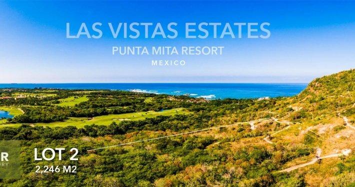 Las Vistas Estates - Luxury real estate at the Punta Mita Resort. Hillside homesite building lots for sale overlooking the resort, golf fairways and Las Marietas Islands.