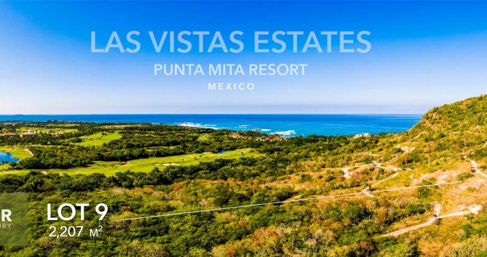 Las Vistas Estates - Luxury real estate at the Punta Mita Resort. Hillside homesite building lots for sale overlooking the resort, golf fairways and Las Marietas Islands.