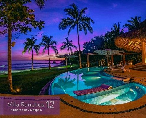 Villa Ranchos 12 - Luxury beachfront vacation rental villa on exclusive Ranchos beach at the Punta Mita Resort, Riviera Nayarit, Mexico