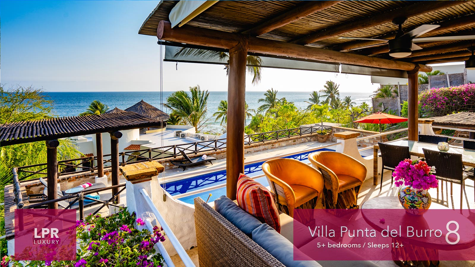 Villa Punta del Burro 8 - Punta de Mita beachfront vacation vila for sale North of Puerto Vallarta, Riviera Nayarit, Mexico real estate