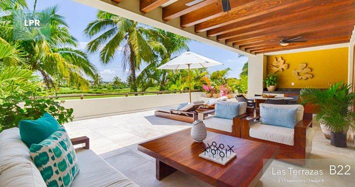 Las Terrazas B22 - Punta Mita Resort golf condo for rent. Ocean view condominium vacation rental.