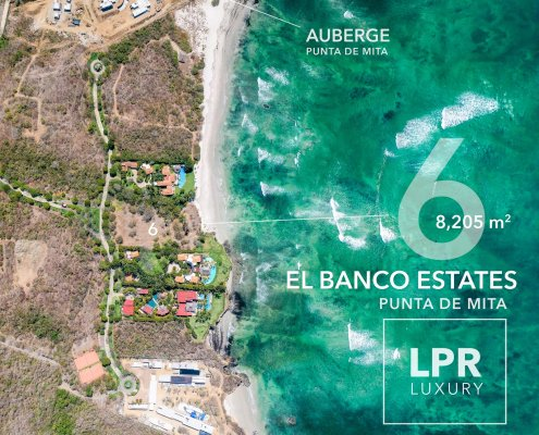El Banco Estates - Lot 6 - Auberge Resort - Ultra luxury resort real estate - Home site building lots for sale near the Punta Mita Resort, Riviera Nayarit, Mexico