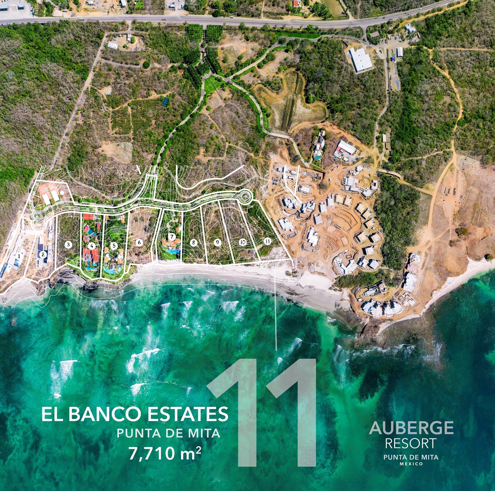 El Banco Estates - Lot 11 - Auberge Resort - Ultra luxury resort real estate - Home site building lots for sale near the Punta Mita Resort, Riviera Nayarit, Mexico